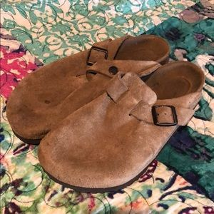 Birkenstock Size 38 Boston Suede Clogs